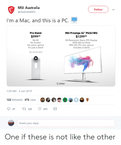 MSI Australia Follow I'm a Mac and This Is a PC Pro Stand