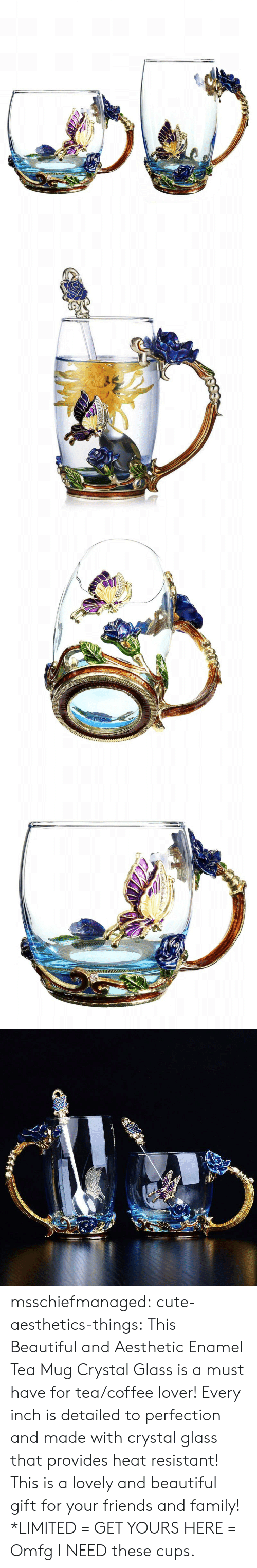 Beautiful, Cute, and Family: msschiefmanaged: cute-aesthetics-things:  This Beautiful and Aesthetic Enamel Tea Mug Crystal Glass is a must have for tea/coffee lover! Every inch is detailed to perfection and made with crystal glass that provides heat resistant! This is a lovely and beautiful gift for your friends and family! *LIMITED = GET YOURS HERE =   Omfg I NEED these cups.
