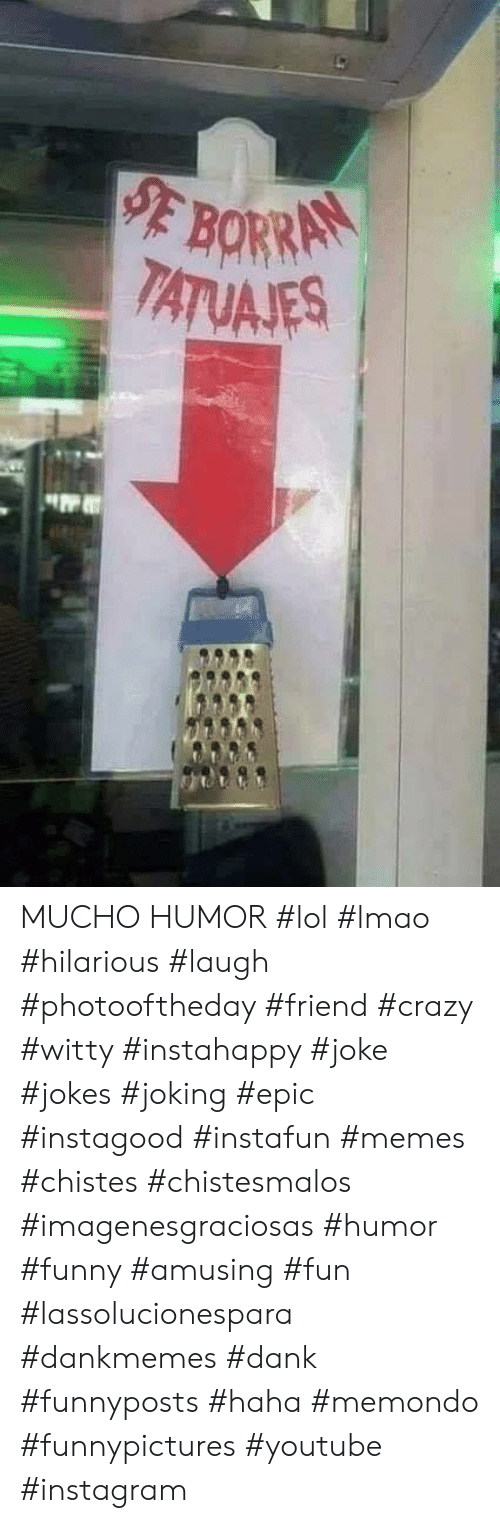 Crazy, Dank, and Funny: MUCHO HUMOR #lol #lmao #hilarious #laugh #photooftheday #friend #crazy #witty #instahappy #joke #jokes #joking #epic #instagood #instafun  #memes #chistes #chistesmalos #imagenesgraciosas #humor #funny  #amusing #fun #lassolucionespara #dankmemes  #dank  #funnyposts #haha #memondo #funnypictures #youtube #instagram