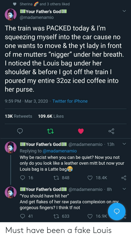 fake: Must have been a fake Louis