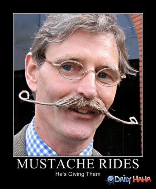 mustache ride: MUSTACHE RIDES  He's Giving Them  eDAILY HAHA