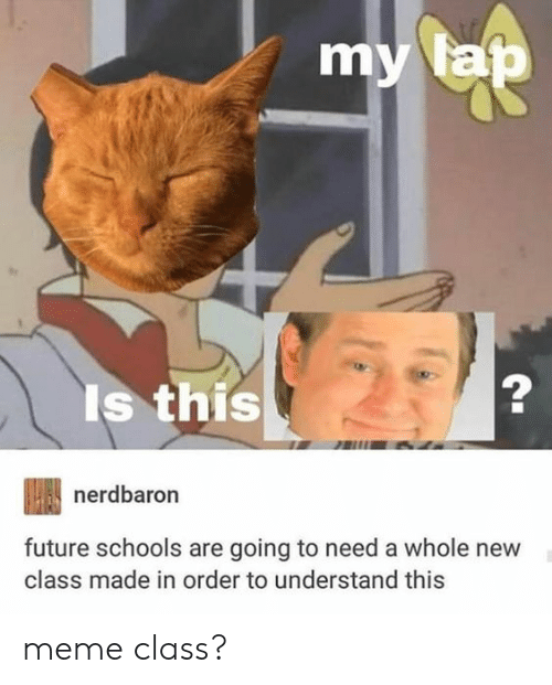 Future, Meme, and Class: mv a  la  Is this  nerdbaron  future schools are going to need a whole new  class made in order to understand this meme class?