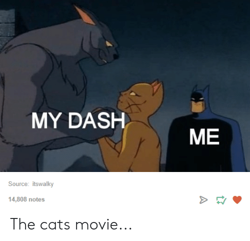 MY DASH ME Source Itswalky >E 14808 Notes the Cats Movie