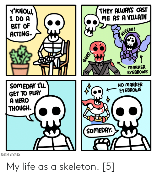 Life: My life as a skeleton. [5]