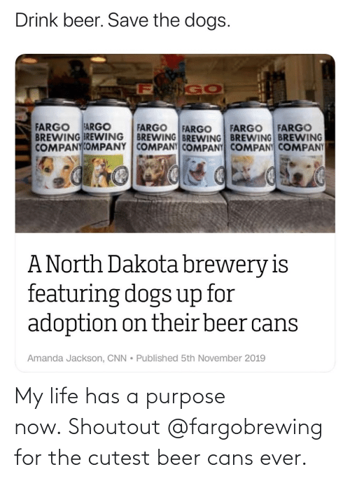 my life: My life has a purpose now.Shoutout @fargobrewing for the cutest beer cans ever.