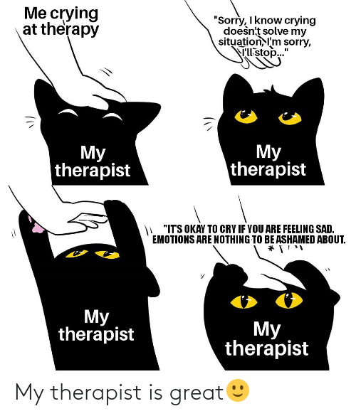 therapist: My therapist is great🙂