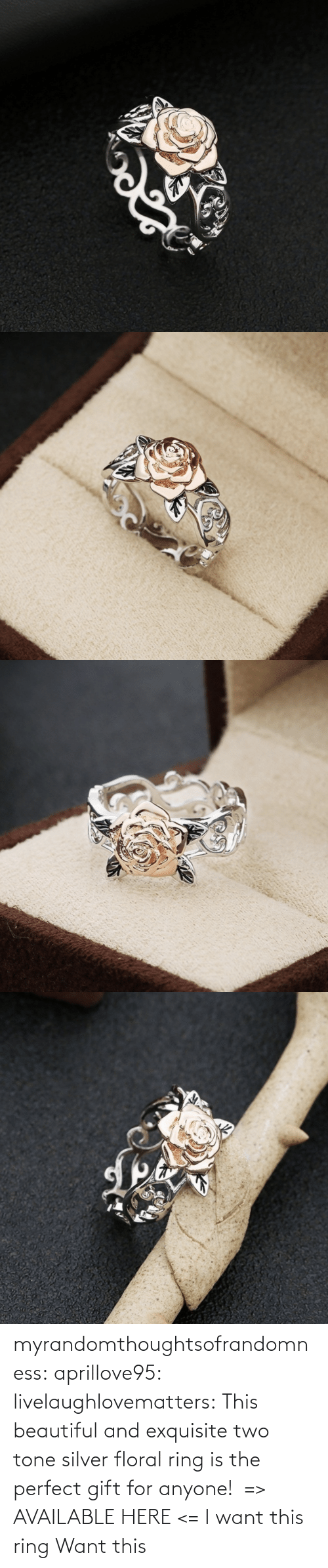 two: myrandomthoughtsofrandomness:  aprillove95: livelaughlovematters:  This beautiful and exquisite two tone silver floral ring is the perfect gift for anyone! => AVAILABLE HERE <=    I want this ring     Want this
