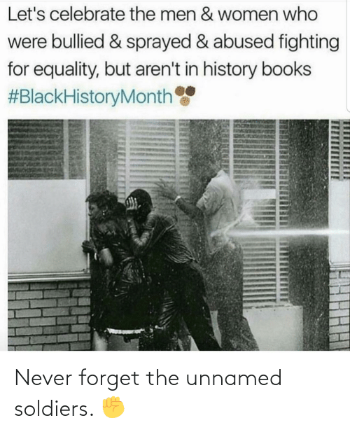 Never: Never forget the unnamed soldiers. ✊