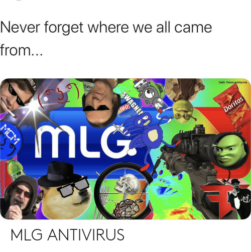 bey: Never forget where we all came  from...  Seth FakeLastName  Doritos  Wocho Cheese  BEY  mLG  MCM  SWAGNE MLG ANTIVIRUS