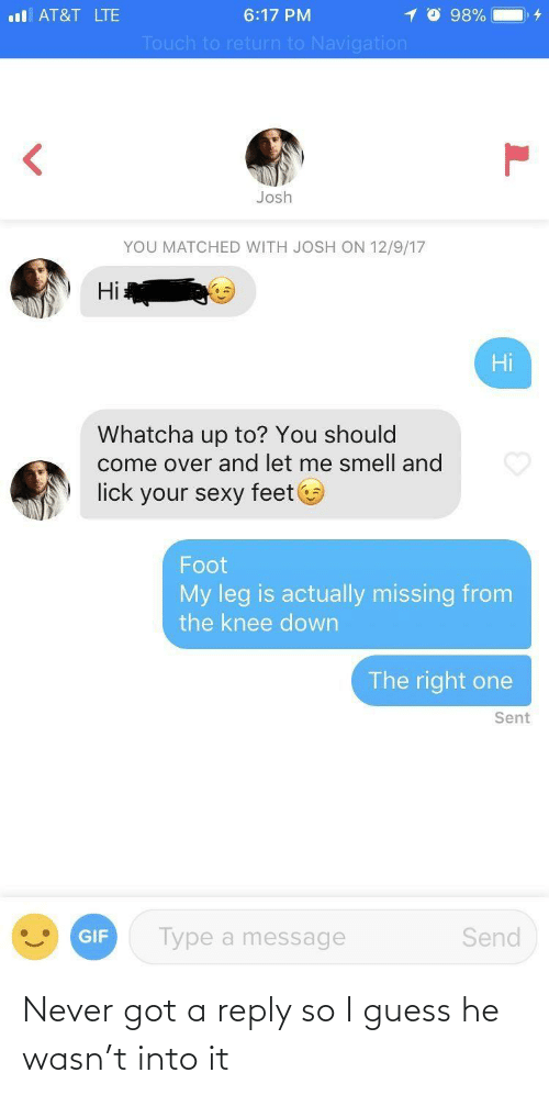 Guess: Never got a reply so I guess he wasn't into it