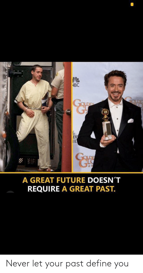 Never: Never let your past define you