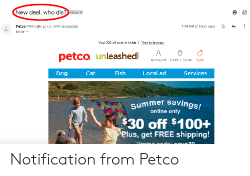 New Deal Who Dis? Lubux 724 AM 7 Hours Ago Petco Pelco