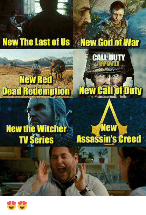 Witchers: New The Last of Us New GodinfWar  CALEDUTY  Dead Redemption New Call Of Duty  New  New the Witcher  TV Series  Assassin's Creed 😍😍