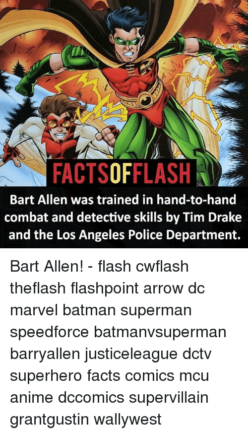 Ni FACTSOFFLASH Bart Allen Was Trained in Hand-To-Hand