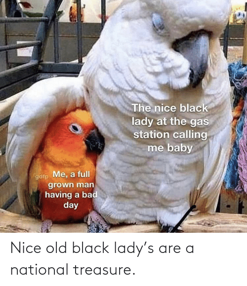 National: Nice old black lady's are a national treasure.