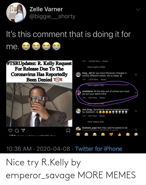 Dank, Memes, and R. Kelly: Nice try R.Kelly by emperor_savage MORE MEMES