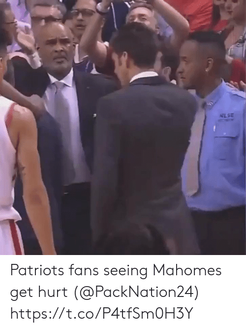 Football, Nfl, and Patriotic: NLSE Patriots fans seeing Mahomes get hurt (@PackNation24) https://t.co/P4tfSm0H3Y