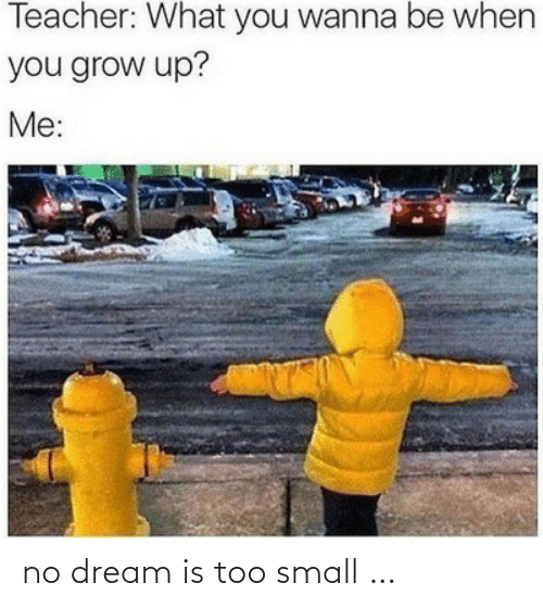 too: no dream is too small …