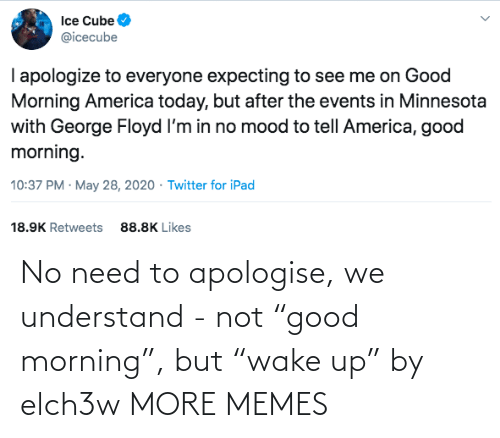 """understand: No need to apologise, we understand - not """"good morning"""", but """"wake up"""" by elch3w MORE MEMES"""