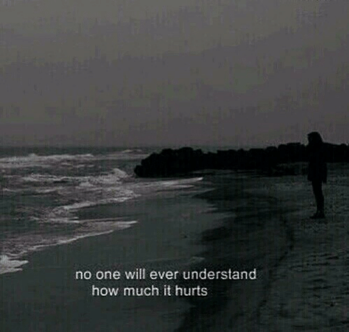 How, One, and Will: no one will ever understand  how much it hurts