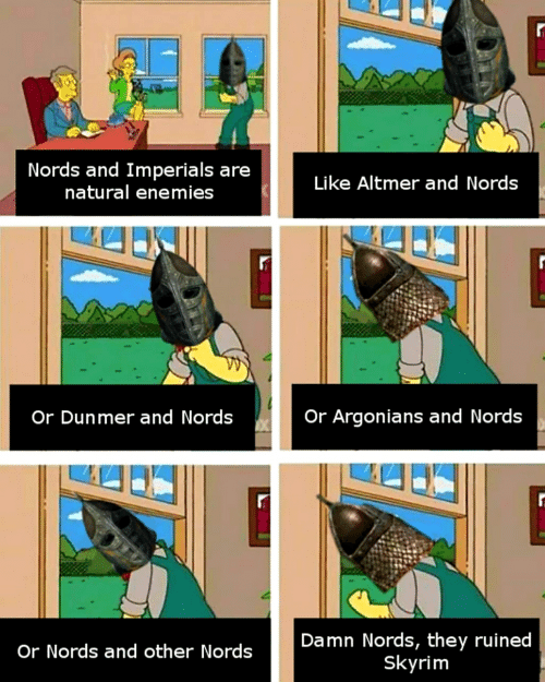 Nords and Imperials Are Natural Enemies Nl Seuke Altrmer and Niord
