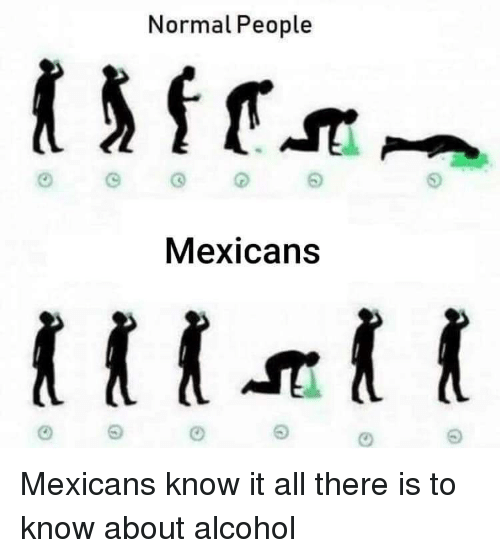 know it all: Normal People  Mexicans Mexicans know it all there is to know about alcohol