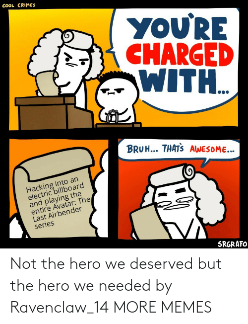 Not The: Not the hero we deserved but the hero we needed by Ravenclaw_14 MORE MEMES