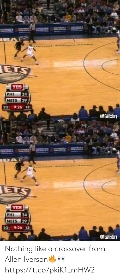 Like A: Nothing like a crossover from Allen Iverson🔥👀 https://t.co/pkiK1LmHW2