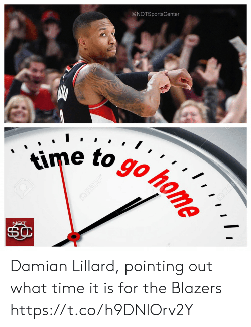 Sports, Damian Lillard, and Time: @NOTSportsCenter  e to goto Damian Lillard, pointing out what time it is for the Blazers https://t.co/h9DNlOrv2Y