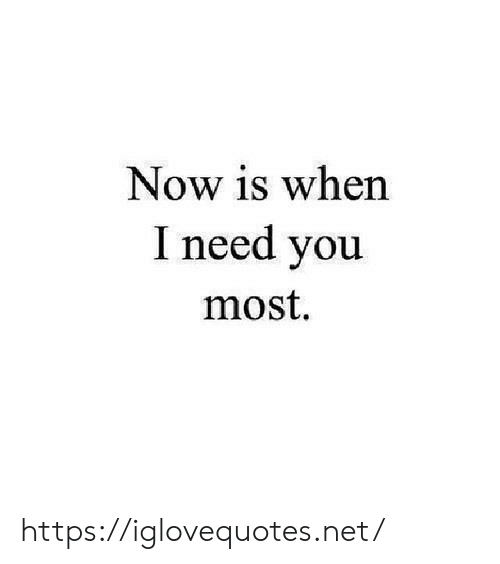 Net, You, and Now: Now is when  I need you  most https://iglovequotes.net/