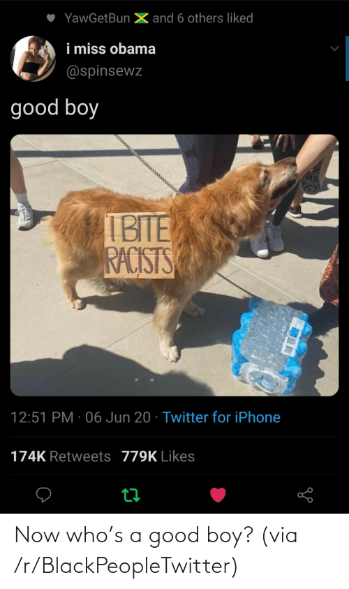 boy: Now who's a good boy? (via /r/BlackPeopleTwitter)