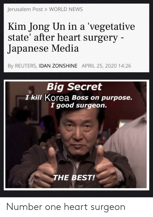 Heart: Number one heart surgeon