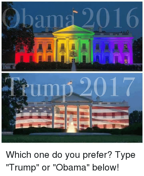 """Trumping: Obam 2016 Which one do you prefer? Type """"Trump"""" or """"Obama"""" below!"""