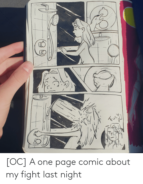 page: [OC] A one page comic about my fight last night