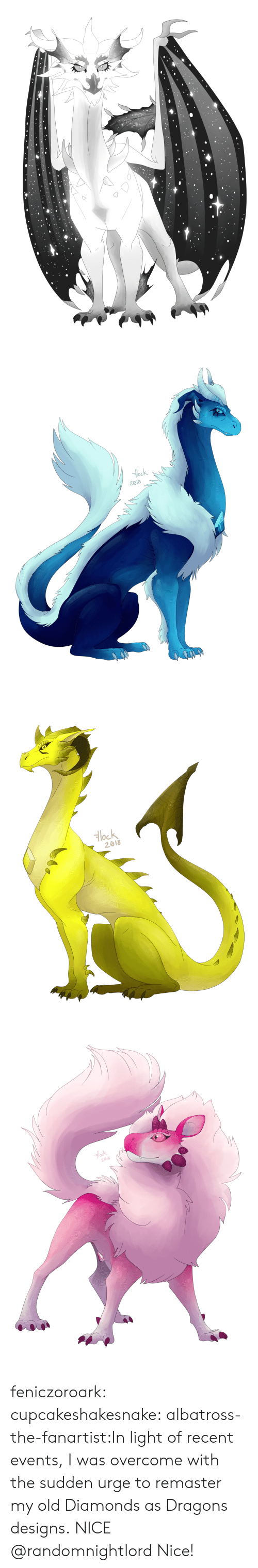Tumblr, Blog, and Diamond: ock  2018   Hlock  2018 feniczoroark:  cupcakeshakesnake:  albatross-the-fanartist:In light of recent events, I was overcome with the sudden urge to remaster my old Diamonds as Dragons designs. NICE  @randomnightlord   Nice!