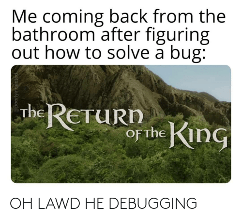 Oh: OH LAWD HE DEBUGGING