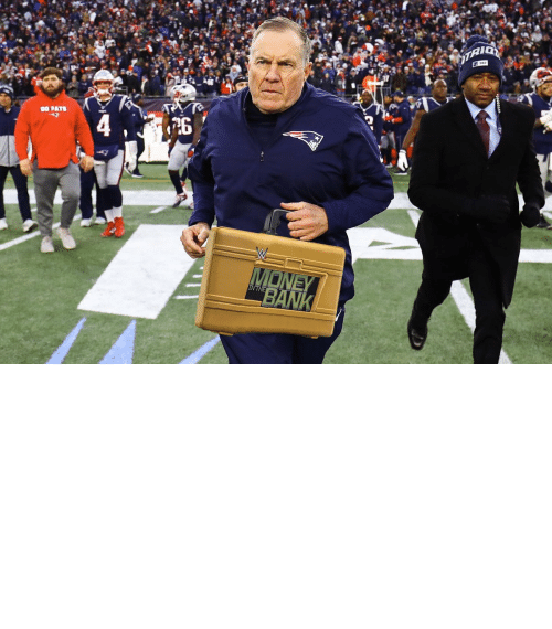 Super Bowl: OH MY! Bill Belichick is cashing in his MITB Briefcase! The Super Bowl is now a triple threat! https://t.co/4UZRCwWTjL