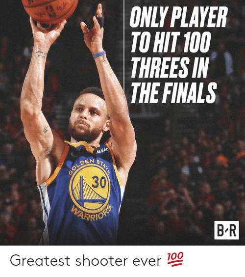Threes: ONLY PLAYER  TO HIT 100  THREES IN  THE FINALS  DEN S  30  B R Greatest shooter ever 💯