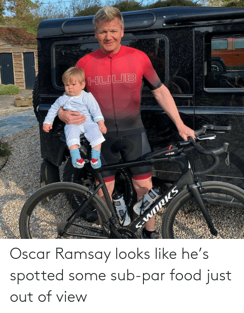 View: Oscar Ramsay looks like he's spotted some sub-par food just out of view