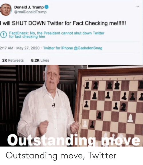 move: Outstanding move, Twitter