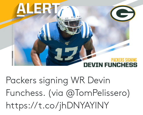 Devin Funchess, Memes, and Packers: Packers signing WR Devin Funchess. (via @TomPelissero) https://t.co/jhDNYAYINY