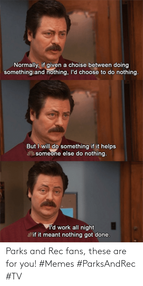 Parks: Parks and Rec fans, these are for you! #Memes #ParksAndRec #TV