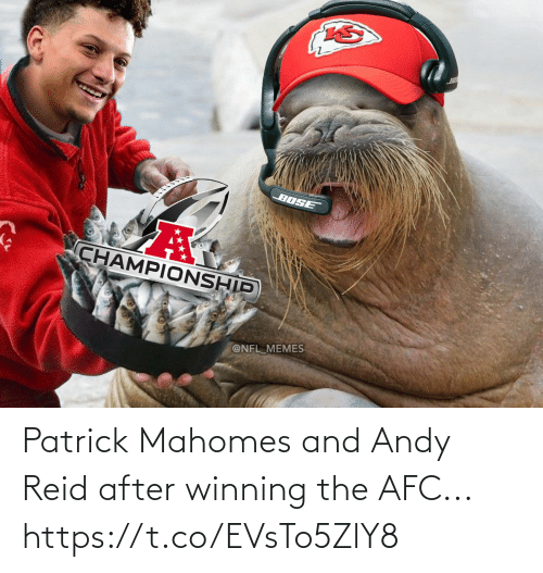 After: Patrick Mahomes and Andy Reid after winning the AFC... https://t.co/EVsTo5ZlY8