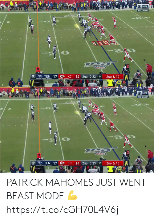 just: PATRICK MAHOMES JUST WENT BEAST MODE 💪 https://t.co/cGH70L4V6j