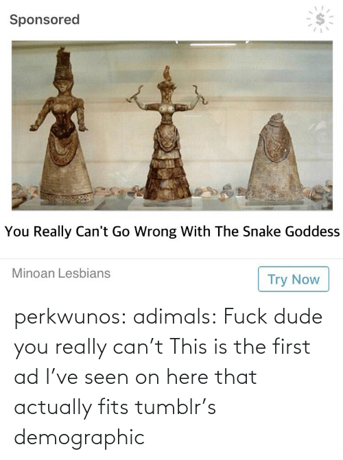 dude: perkwunos: adimals: Fuck dude you really can't  This is the first ad I've seen on here that actually fits tumblr's demographic
