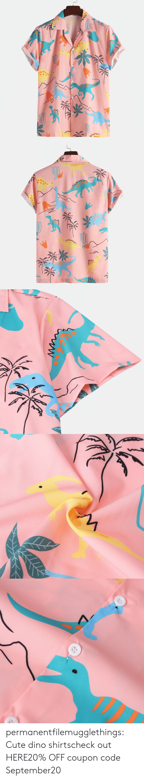 Cute, Tumblr, and Blog: * permanentfilemugglethings:  Cute dino shirtscheck out HERE20% OFF coupon code:September20