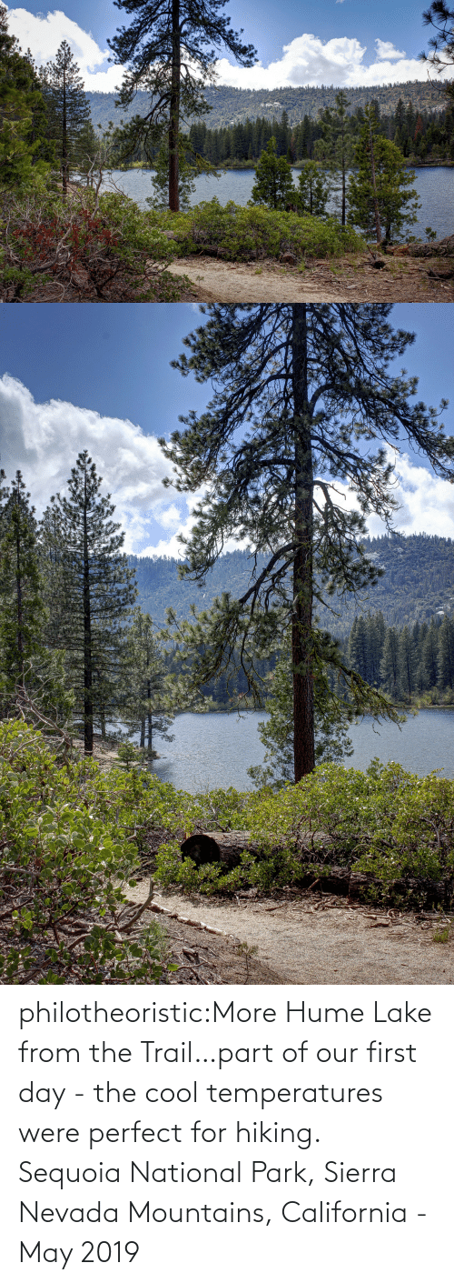 National: philotheoristic:More Hume Lake from the Trail…part of our first day - the cool temperatures were perfect for hiking.  Sequoia National Park, Sierra Nevada Mountains, California - May 2019