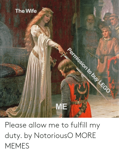 Me: Please allow me to fulfill my duty. by NotoriousO MORE MEMES