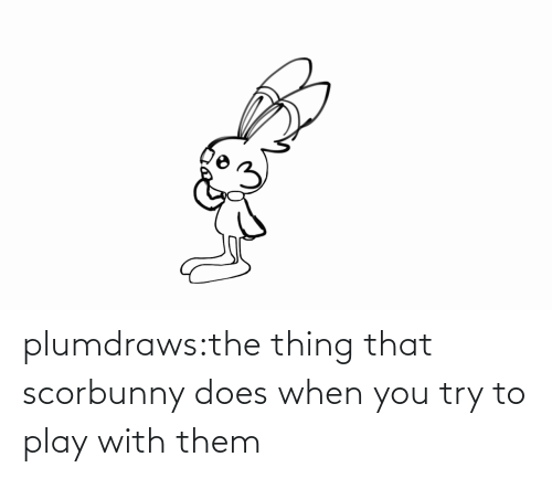 When: plumdraws:the thing that scorbunny does when you try to play with them