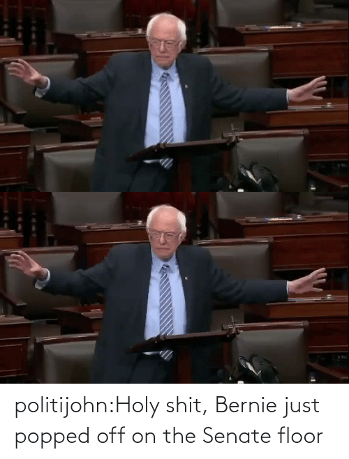 just: politijohn:Holy shit, Bernie just popped off on the Senate floor